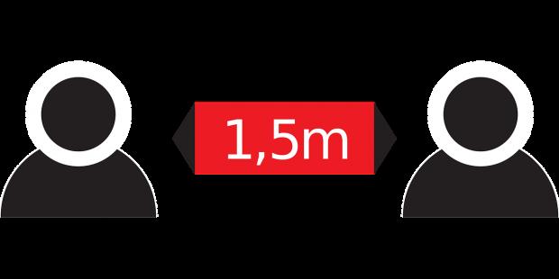 Activiteiten met 1,5m afstand